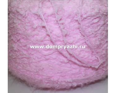 Пряжа Фантазийная «травка» с «лебяжьим пухом» SOGNO нежный розовый