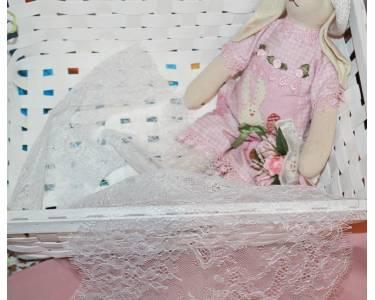 "Кружево ""реснички"" KRUZHEVO арт.TBY 75227, с кордом, шир.240 мм, цвет белый, цена 180 р/1 м"