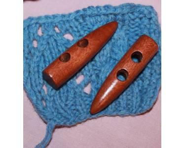 Пуговицы деревянные TBY BT.WD.044 цв.002 коричневый 95L-60мм, 2 прокола