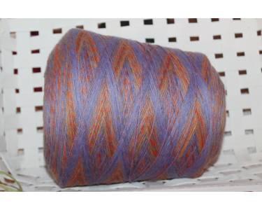 Меринос/альпака СМОТКА В 4 нити art Stampa Luna, цвет фиолетовый-оранжевый-желтый
