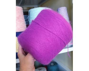 Пряжа Ангора 80%, цвет цикламен