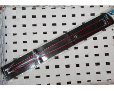 Спицы прямые Knit Pro  Zing 2,5 мм/30 см, алюминий, 2шт., коралловый