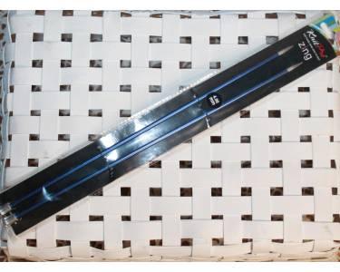 Спицы прямые Knit Pro  Zing 4 мм/30 см, алюминий, 2шт, темный синий
