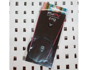 Спицы Knit Pro круговые Zing 2 мм/120 см, алюминий,розовый