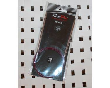 Спицы Knit Pro  круговые Nova 5.5 мм/100 см, никелированная латунь, серебристый