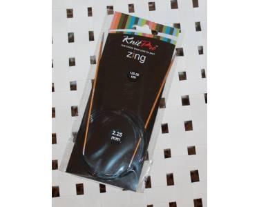 Спицы Knit Pro круговые Zing 2,25 мм/120 см, алюминий, янтарный