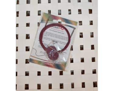 Тросик Knit Pro (заглушки 2 шт, ключик) для съемных спиц, длина 94 (готовая длина спиц 120) см, фиолетовый