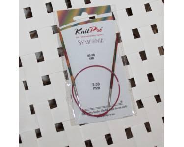 Спицы Knit Pro круговые Symfonie 3 мм/40 см, дерево, многоцветный.