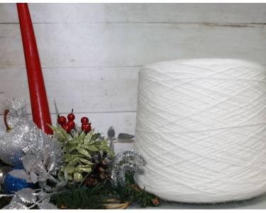 Пряжа Ангора 80% Cariaggi, цвет белый
