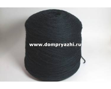 Пряжа 100 % меринос Stefy, цвет черно-синий