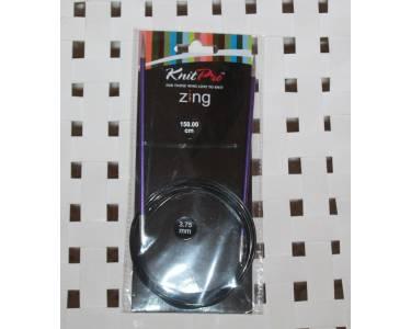 Спицы Knit Pro круговые Zing 3,75мм/150см, алюминий, цвет фиолетовый