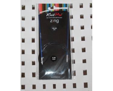 Спицы Knit Pro Спицы круговые Zing 4мм/100см, алюминий, цвет синий