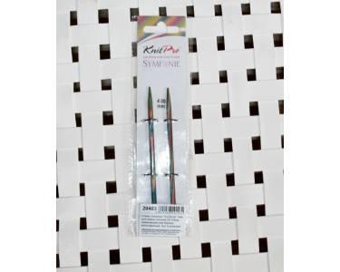 Спицы Knit Pro  съемные Symfonie 4мм для длины тросика 28-126 см, дерево, многоцветный, 2 шт.