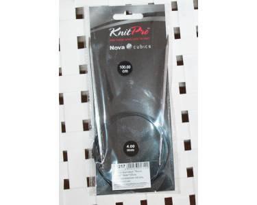 Спицы Knit Pro круговые Nova cubics 4мм /100см, никелированная латунь, серебристый.
