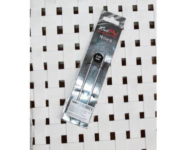 Спицы Knit Pro  съемные Noval 3,5 мм для длины тросика 28-126 см, никелированная латунь, серебристый, 2шт.
