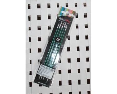 СпицыKnit Pro чулочные Zing 3 мм/15 см, алюминий, нефритовый, 5 шт.