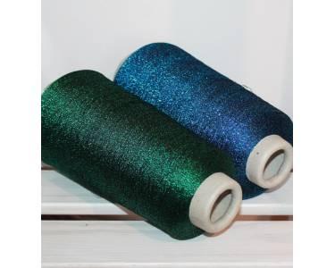 Пряжа вискоза с люрексом MISSONI art Marfil, цвет яркий синий люрекс на чёрной основе (00134-1912)