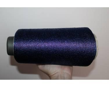 Пряжа с люрексом Sinflex, цвет бордовый с синим люрексом