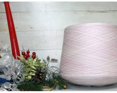 Пряжа Меринос/па art Caprese, цвет пастельный розовый-молочный, секционное крашение