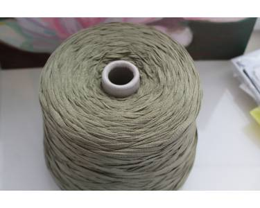 Пряжа Ленточная пряжа(плоский шнурок) Filcompany art Spiga, цвет средний оливковый