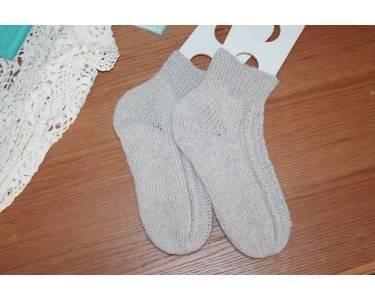 Описание вязания носков из мериноса и альпаки Feel