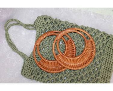Ручки для сумки плетеные, материал: ротанг