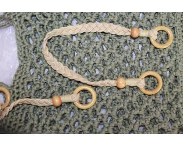 Ручки для сумки из шнура вощеного/дерева TBY.27373