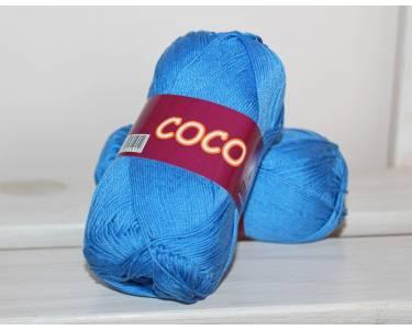 Пряжа мерсеризованный хлопок 100% Vita cotton art Coco, цвет синий васильковый(col 3879)