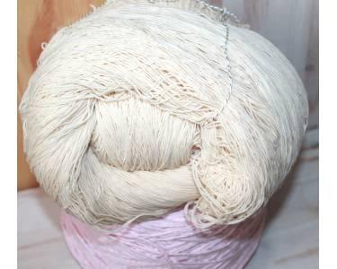 Пряжа Хлопок/полиамид art Macro (в пасмах), цвет натуральный кремовый