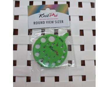 Линейка Knit Pro круглая для определения номера спиц, пластик, зеленый