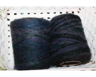 Мохер секционного крашения Pinori Filati art Pongomel, фиолет-темный малахит-черный-морская волна