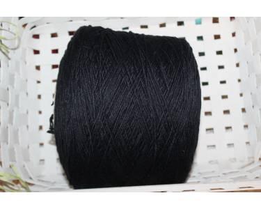 Пряжа меринос 90 %/AF 10% art Merino, цвет черный с легким блеском