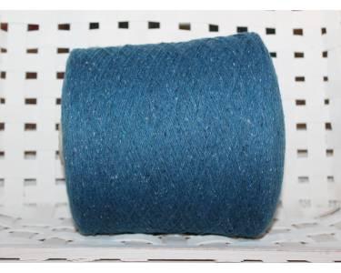 Пряжа твид G&G art Silente, цвет синий с крапками с молочного цвета