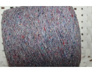 Пряжа твид G&G Filati art Kaleido, цвет сиреневый с разноцветными крапками