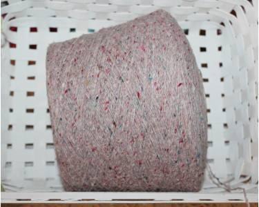 Пряжа твид G&G Filati art Kaleido, цвет розово-персиковый с разноцветными крапками