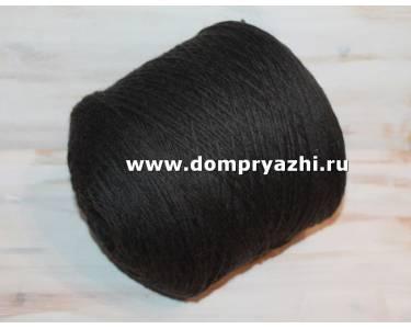 Пряжа 100 % меринос Stefy, цвет очень темный серый