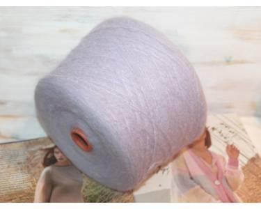 Пряжа Garzato полушерсть по типу мохера, цвет нежно-сиреневая