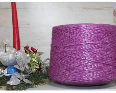 Пряжа шнурочек меринос/нейлон art Valiani, цвет фиолет-серебро