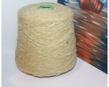 Пряжа с паетками Шерсть/хлопок/акрил Art Dudu Pail, цвет липовый с липовыми-серебристымипаетками