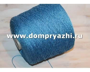 Пряжа NUOVO шелк/акрил, цвет яркий синий