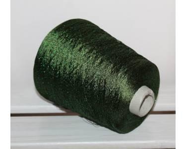Пряжа с люрексом Ilaria art Astro, цвет темная оливка с ярким зеленым люрексом (4284)