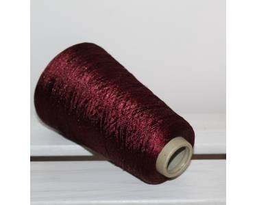Пряжа с люрексом Ilaria art Astro, цвет темный винный с медным люрексом (4218)