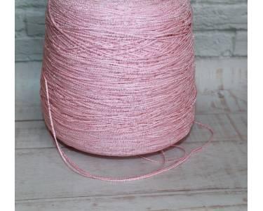 Пряжа  Tombola ленточка ПА в вискозной оплетке, цвет розовый