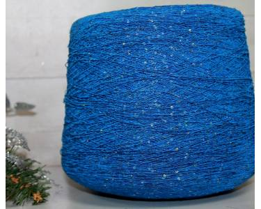 Пряжа Вискоза с паетками art Alloro, цвет синий графит с паетками голография