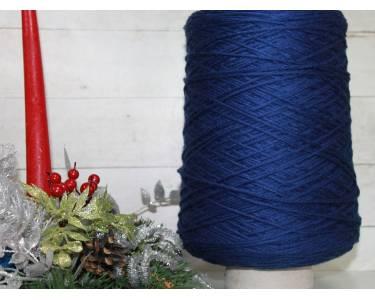 Пряжа Меринос  100 % гребенной art Newone, цвет темный синий
